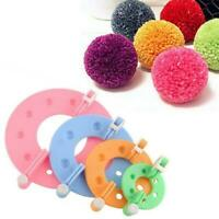 DIY Pompom Knitting Machine Kit Knitting Crafts 4Sizes Tool Ball Making Plu F8M1