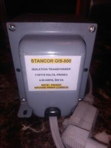 Stancor GIS-500 Isolation Transformer 115/115 volts, Pri/Sec 4.35 amps, 500 VA
