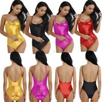 Womens Swimsuit High Cut Yoga Leotard Dancewear Gymnastics Bodysuit Thong Romper