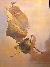 FRANK FRAZETTA The Galleon No. 25 FANTASY Litho PRINT 15 X 23 Vintage Prints