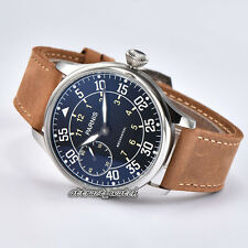 44mm Parnis Seagull Hand Winding Movement Men's Watch 316L Stainless Steel Case