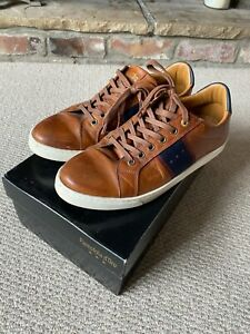 Pantofola d'Ora Tan Mens Leather Trainers UK Size 8 Euro Size 42