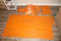 Huge Lot of Vintage HOT WHEELS Mattel Tracks Banks Curved Orange Turns Bends