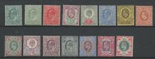 GB 1902 basic set to 1 shilling from SG216-314 mounted mint MH set stamps