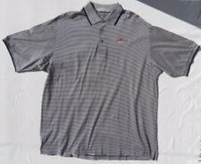 Nicklaus Golf Men's Navy Blue White Stripe Pga West Collar Polo Shirt Top sz Xxl
