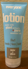 Everyone 3-in-1 Lotion Tube Cedar and Citrus 6 oz. with Plant Extracts