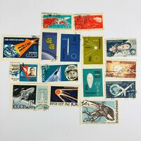 Lot Of 15 Space Stamps Ceskoslovensko Noyta Polska Noyma Deutsche 1960's