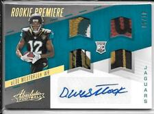 2017 Absolute Rookie Premiere Quad Dede Westbrook Rookie Patch Autograph /10