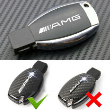 2 Pcs AMG Alloy Silver Key Fob Badge Decal Adhesive Sticker Fits For All Type