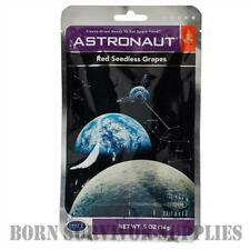ASTRONAUT FREEZE-DRIED RED SEEDLESS GRAPES - Space Food Fruit Ration Pack Snack