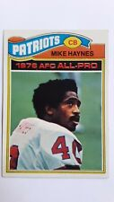 1977 Topps Mike Haynes New England Patriots #50 Rookie Card. FREE SHIPPING!