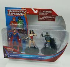 Justice League 3 pack Figurine Superman Wonder Woman Batman NIB