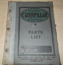 HOLT MANUFACTURING CATERPILLAR 10 TON CRAWLER TRACTOR DOZER PARTS MANUAL BOOK