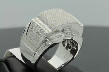 1.60 CARAT MENS WHITE GOLD FINISH DIAMOND ENGAGEMENT WEDDING PINKY BAND RING