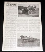 1904 OLD MAGAZINE ARTICLE, HUNTING ON PRAIRIES OF NORTH DAKOTA IN AN AUTOMOBILE!