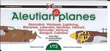 1/72 DK Decals NEW; Aleutian Planes Part One P-38, P-39, P-40, B-25, B-26+ more
