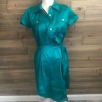 Calypso St. Barth Emerald Green Silk T Shirt Style Dress Size S