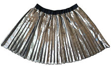 New With Tags SEED HERITAGE Size 7 Metallic Silver Pleat Skirt