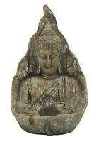 Buddha Head Bust Statue Tea Light Indoor Outdoor Weather Resistant
