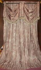 VINTAGE VICTORIAN CHIC FRENCH COUNTRY BAROQUE FLORAL SILK DRAPES CURTAINS 4 LOT