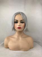 Natural Charming Woman Soft Hair Silver/Gray Short Straight Hair Wig