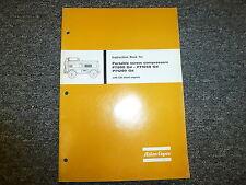 Atlas Copco PT900Gd PT1050Gd PT1200Gd Screw Compressor Owner Operator Manual