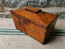More details for a regency amboyna sarcophagus  tea caddy