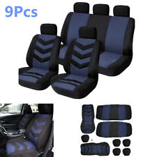 New 9Pcs/Set Sports Breathable Car Seat Cover Full Front Seat Mat Pad Protector