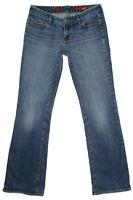 Express X2 Womens Jeans Size 8 L W10 Bootcut Low Rise Stretch Denim