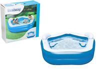 BESTWAY SWIM CENTER FAMILY PADDLING POOL GARDEN SUMMER INFLATABLE WITH SEATS
