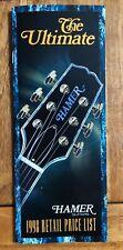 Hamer Guitars Catalog 1998 Retail Price List The Ultimate Guitar Brochure