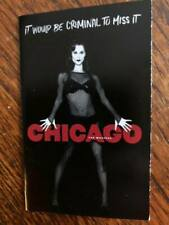 Chicago the musical mini ad/flyer Broadway NYC