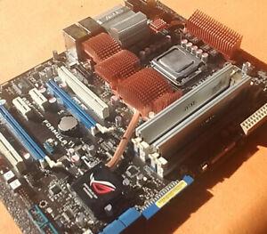 Asus Rampage Formula Sockel 775 Motherboard X48, Q9650 4Core CPU, 2x 1GB DDR2