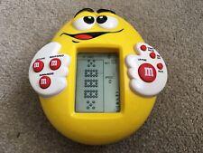 M&M Yellow Racing Handheld Video Computer Game Full Working Condition
