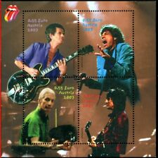 STAMPS THE ROLLING STONES 4 TIMBRES AUTRICHE BLOC