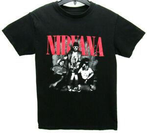 Nirvana Men's Size Small T Shirt Black Rock & Roll Grunge