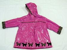 Raincoat Toddler 3T Girls Pink Cat Leopard Print Wippette Kids Rain Coat Kitten