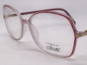 Silhouette Legends Spx 3500 6074 Red Transparent High End 55-15 Medium + Case
