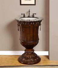 23-inch Granite Counter Top Single Sink Bathroom Vanity Pedestal Cabinet 0141Bb