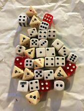 Dice Collection of 30 Varying Sizes & Colors, Unique, Rare, Vintage