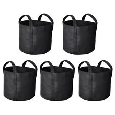 5 Pack Grow Bags Fabric Pots Root Pouch with Handles Planting Container 3 Gallon