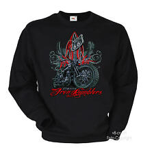 Classic Rumbler Harley-Panhead-Motiv Sweater Chopper Biker Pullover *4296-sw bl