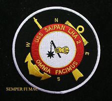 USS SAIPAN LHA-2 PATCH US NAVY TARAWA CLASS ASSAULT SHIP MARINES VET GIFT OIF
