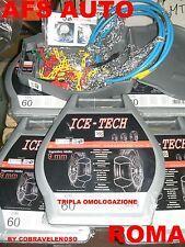 "CATENE DA NEVE""ICE TECH"" 9M GR.2 135/80-13 ANTIMPIGLIAMENTO OMOL. ONORM TUV GS"