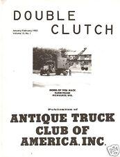 1926 AC Mack Crane Truck Scale Model - 1983 Double Clutch magazine