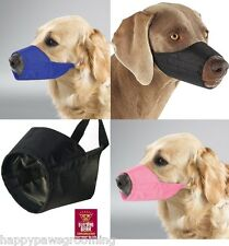 NO BITE BARK Premium Comfort LINED QUICK EZ FIT ADJUSTABLE DOG MUZZLE Training