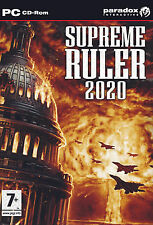 Supreme Ruler 2020 (PC, 2008) Take a Nation. Build an Army. Conquer the World.