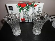 "MIKASA TRIAD CRYSTAL SET OF 2 BUD FLOWER VASE 4 1/2"" TALL"