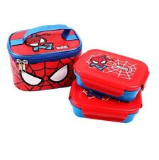 Marvel Spider Man Stainless Steel 2 Layers Bento Lunch Box Food Container Bag