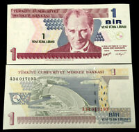 Turkey 1 Bir Year 1970 Banknote World Paper Money UNC Currency Bill Note